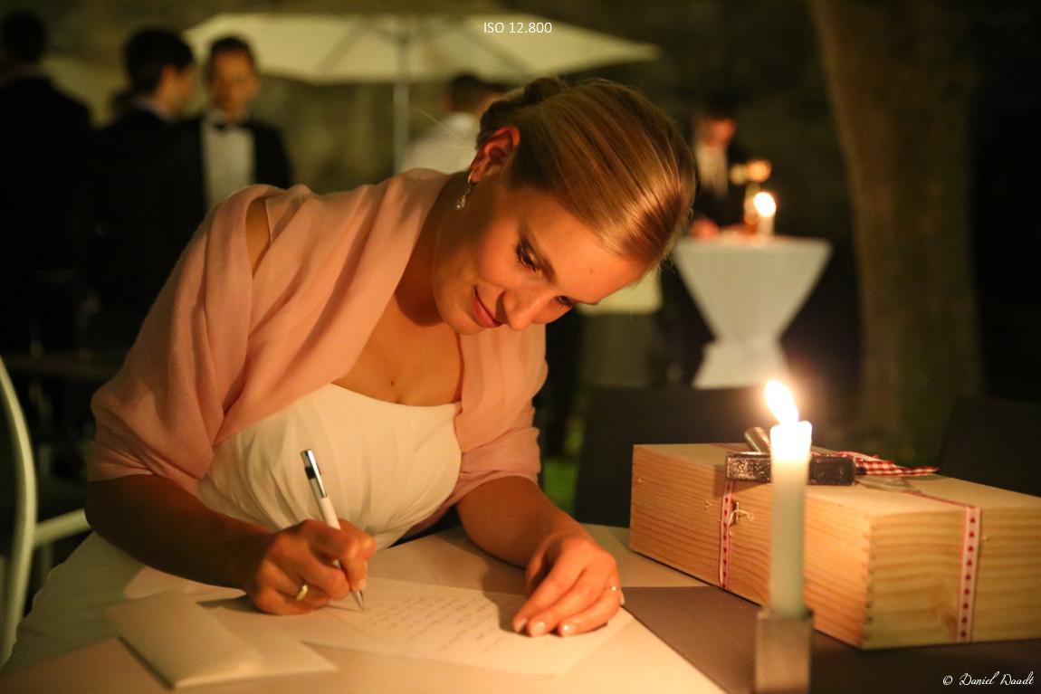 Hochzeitsfotos mit hohen ISO-Werten sind möglich