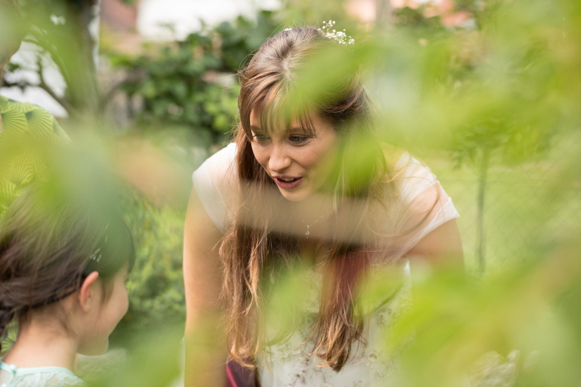 Braut im Garten