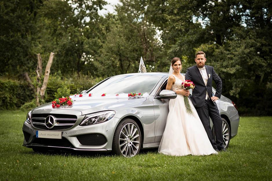 Mercedes Benz als Brautauto