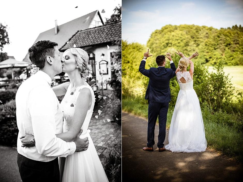 Hochzeitsfeier und Brautpaarshooting