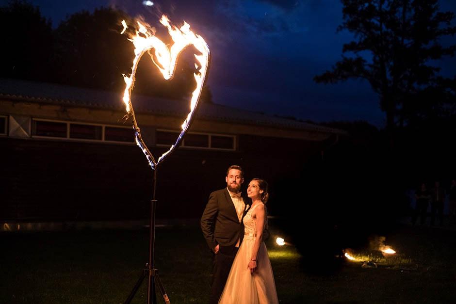Hochzeit Feuerwerk Herz