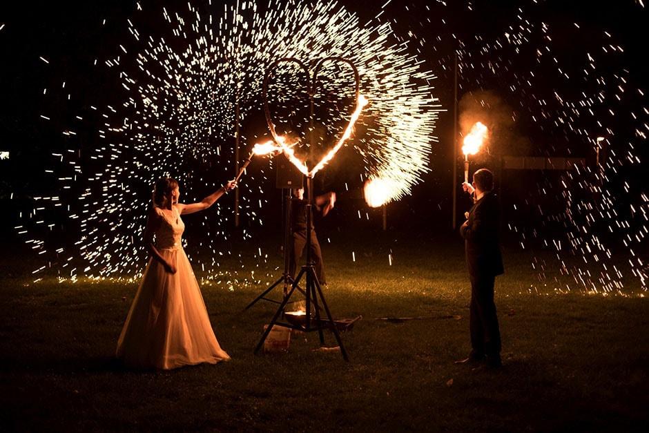 Feuershow bei Hochzeit in Nürnberg