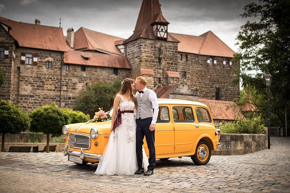 Hochzeitsfotos vor der Laufer Kaiserburg (Wenzelschloss)