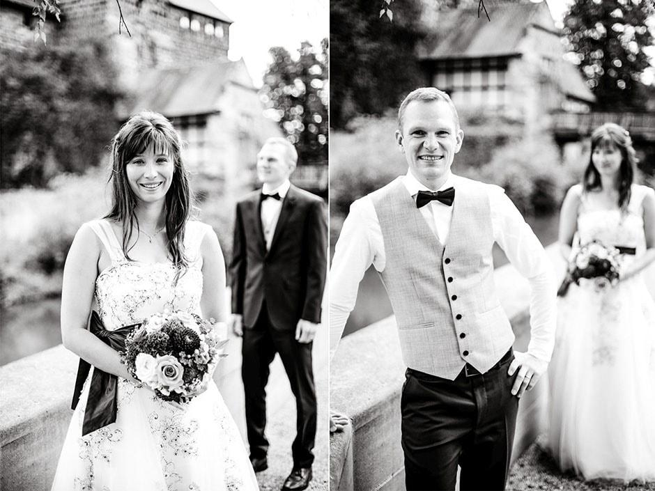 Braut und Bräutigam abwechselnd unscharf