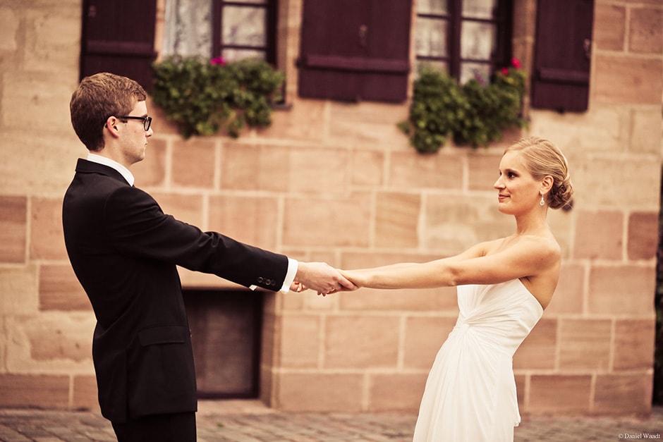Hochzeit in Nürnberg: Brautpaarshooting