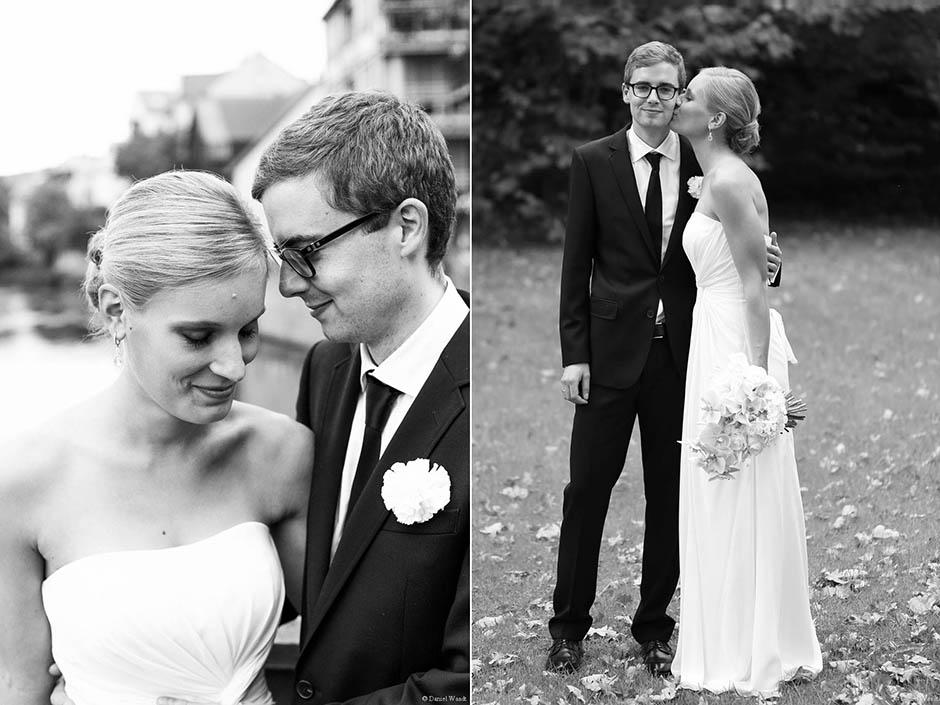 Schwarz-Weiß-Portrait Brautpaar