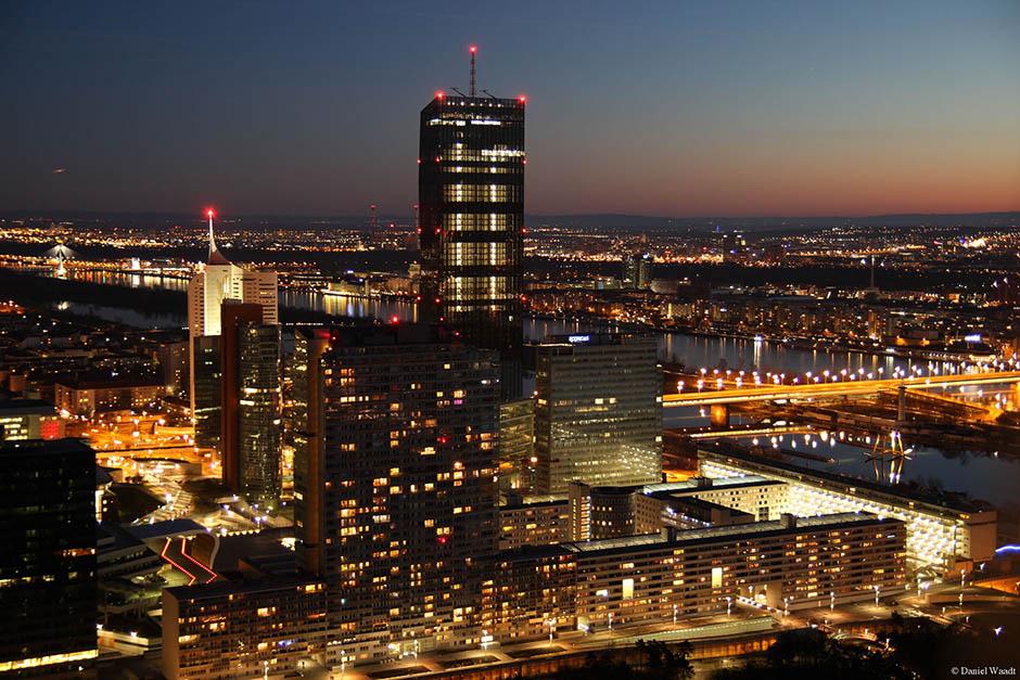 Skyline Wien Österreich Sonnenuntergang