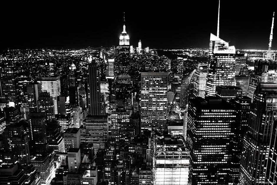 New York Skyline Schwarz-Weiß