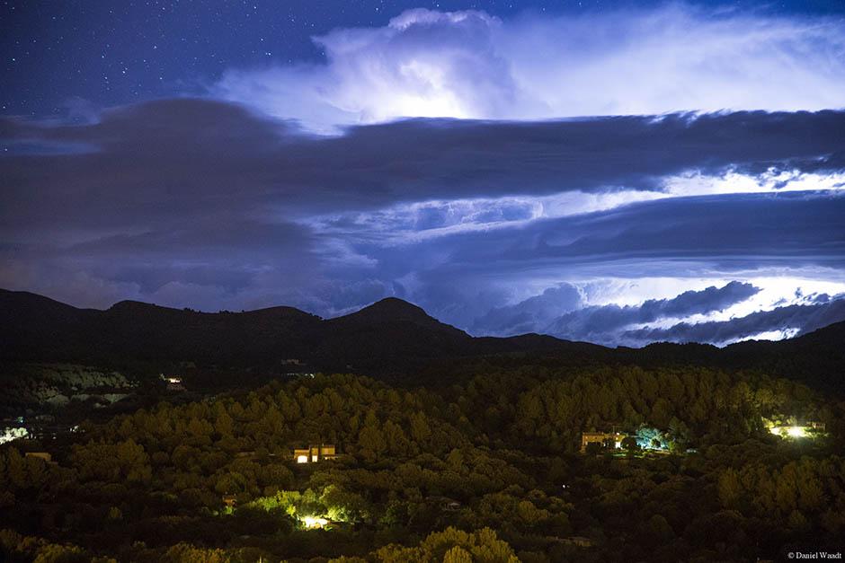 Mallorca Blitze Wolken