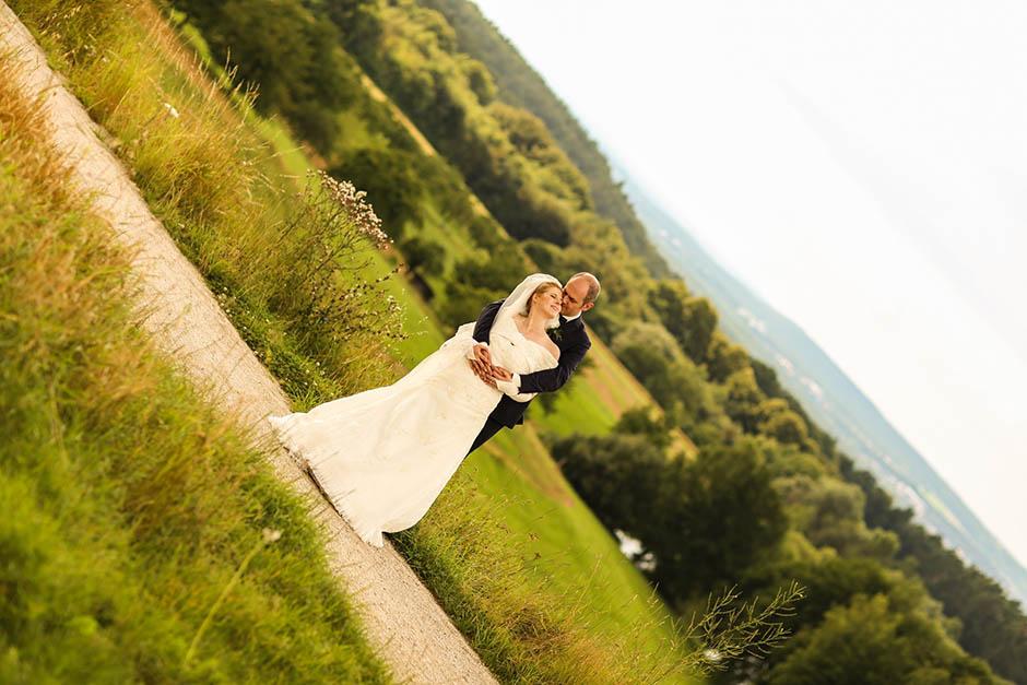 Blick auf Nürnberg: Brautpaarshooting