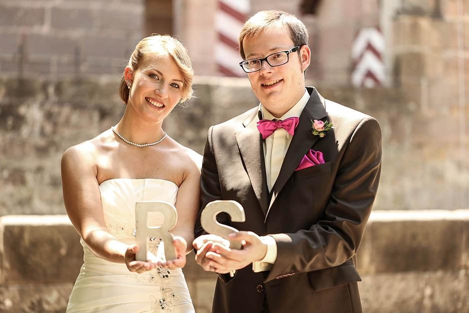 Initialen Brautpaar