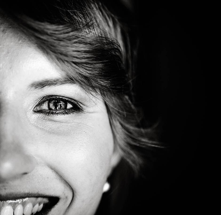 Makroaufnahme Braut Gesicht