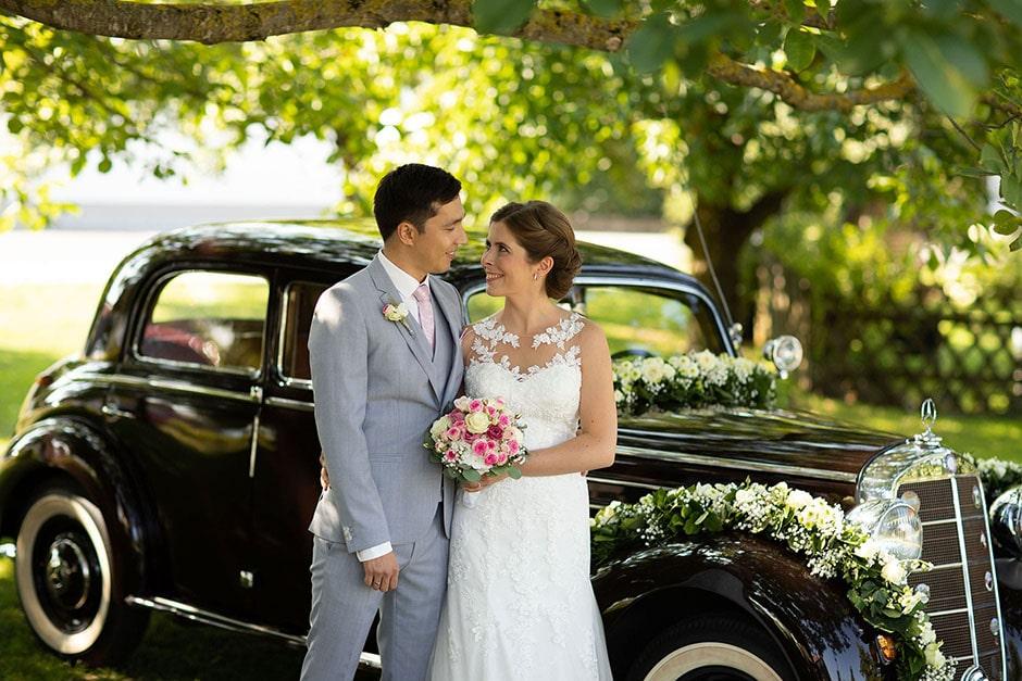 Hochzeit Oldtimer Mercedes